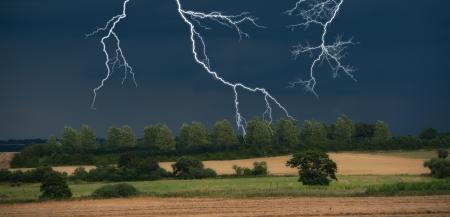 14858253 - dark clouds in harvest
