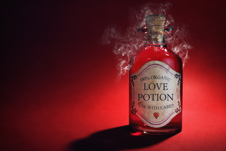 50840941 - love potion bottle, concept for dating, romance and valentine's day