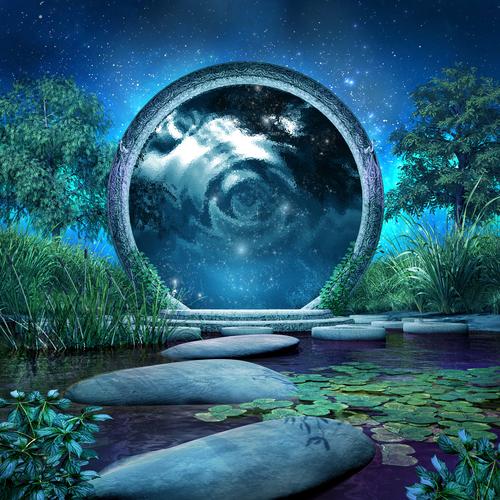 Magic portal on the lake