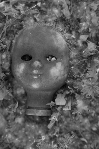 Voodoo Dol. Close up of scary dirty old retro vintage aged used