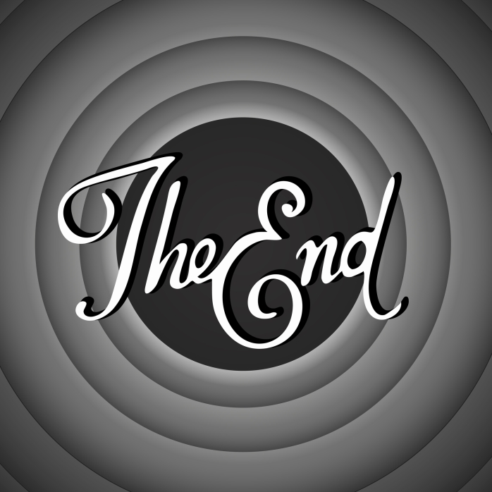 Vintage movie ending screen