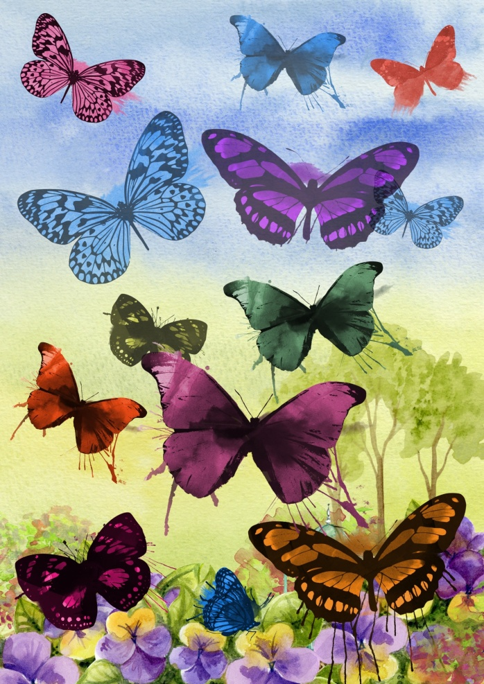 watercolor-butterflies-art